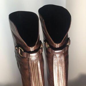 Vintage Michael Kors knee high brown leather boots